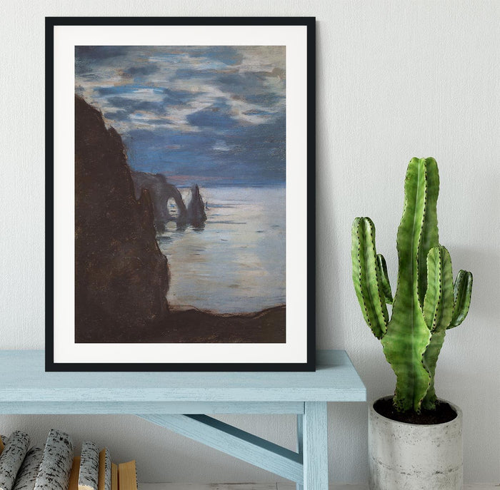 Etretat by Monet Framed Print