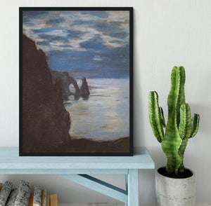 Etretat by Monet Framed Print - Canvas Art Rocks - 2