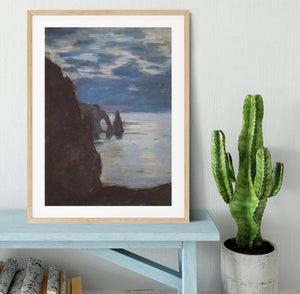 Etretat by Monet Framed Print - Canvas Art Rocks - 3