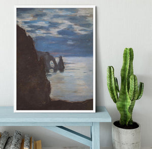 Etretat by Monet Framed Print - Canvas Art Rocks -6