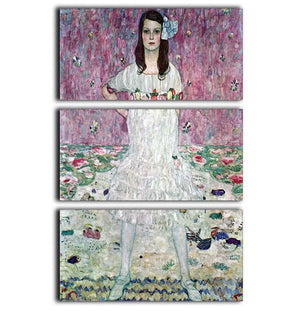 Eugenia Primavesi by Klimt 3 Split Panel Canvas Print - Canvas Art Rocks - 1