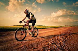 Extreme biking in motion Wall Mural Wallpaper - Canvas Art Rocks - 1