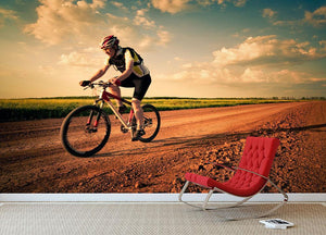 Extreme biking in motion Wall Mural Wallpaper - Canvas Art Rocks - 2