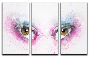 Eye Painting 3 Split Panel Canvas Print - Canvas Art Rocks - 1