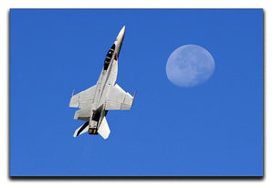 F-18 and the Moon Canvas Print or Poster  - Canvas Art Rocks - 1