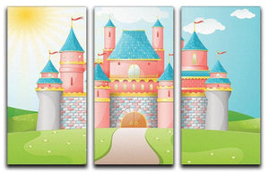 FairyTale castle illustration 3 Split Panel Canvas Print - Canvas Art Rocks - 1