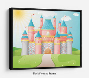 FairyTale castle illustration Floating Frame Canvas