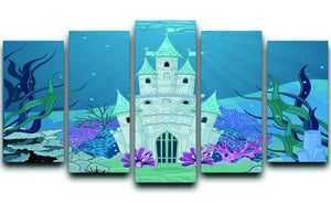 Fairy Tale Mermaid Princess Castle 5 Split Panel Canvas  - Canvas Art Rocks - 1