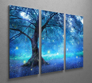 Fairy Tree In Mystic Forest 3 Split Panel Canvas Print - Canvas Art Rocks - 2