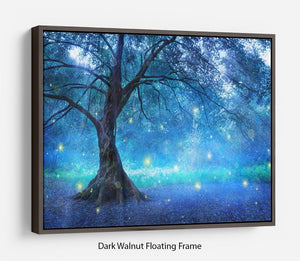 Fairy Tree In Mystic Forest Floating Frame Canvas