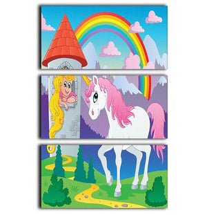 Fairy tale unicorn 3 Split Panel Canvas Print - Canvas Art Rocks - 1