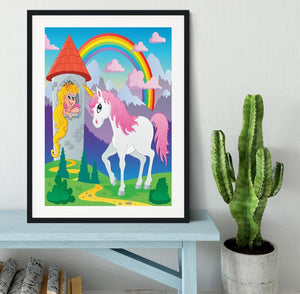 Fairy tale unicorn Framed Print - Canvas Art Rocks - 1