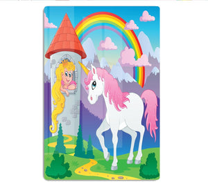 Fairy tale unicorn HD Metal Print