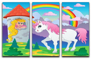 Fairy tale unicorn theme 3 Split Panel Canvas Print - Canvas Art Rocks - 1