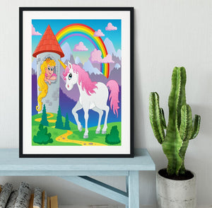Fairy tale unicorn theme Framed Print - Canvas Art Rocks - 1