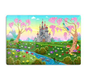 Fairytale scenery with castle HD Metal Print