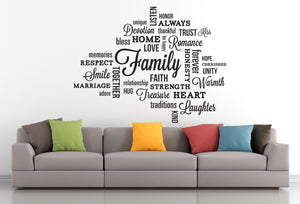 Family Quote Wall Sticker - Canvas Art Rocks - 1