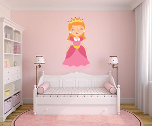 Fantasy Princess Wall Sticker - Canvas Art Rocks - 1