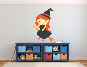 Fantasy Witch Wall Sticker - Canvas Art Rocks - 1