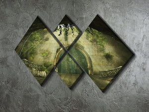 Fantasy cave 4 Square Multi Panel Canvas  - Canvas Art Rocks - 2