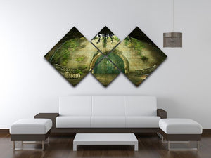 Fantasy cave 4 Square Multi Panel Canvas  - Canvas Art Rocks - 3