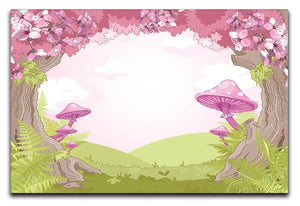 Fantasy landscape with mushrooms Canvas Print or Poster  - Canvas Art Rocks - 1