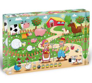 Farm Family Acrylic Block - Canvas Art Rocks - 1