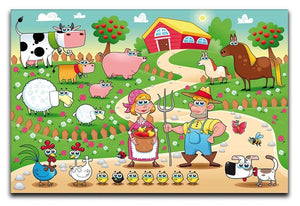 Farm Family Canvas Print or Poster  - Canvas Art Rocks - 1