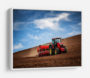Farmer in tractor HD Metal Print