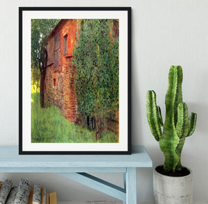 Farmhouse in Chamber in Attersee by Klimt Framed Print - Canvas Art Rocks - 1