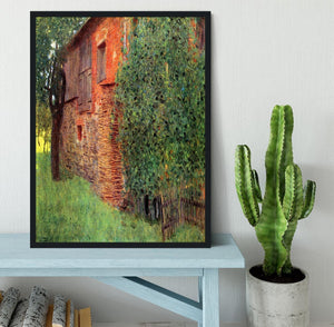 Farmhouse in Chamber in Attersee by Klimt Framed Print - Canvas Art Rocks - 2