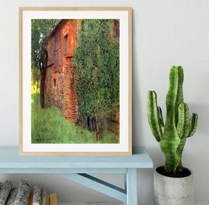 Farmhouse in Chamber in Attersee by Klimt Framed Print - Canvas Art Rocks - 3