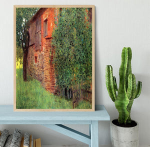 Farmhouse in Chamber in Attersee by Klimt Framed Print - Canvas Art Rocks - 4