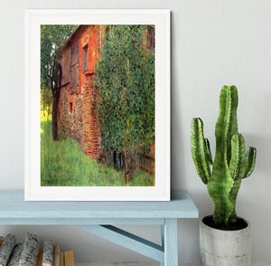 Farmhouse in Chamber in Attersee by Klimt Framed Print - Canvas Art Rocks - 5