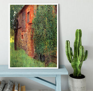 Farmhouse in Chamber in Attersee by Klimt Framed Print - Canvas Art Rocks -6