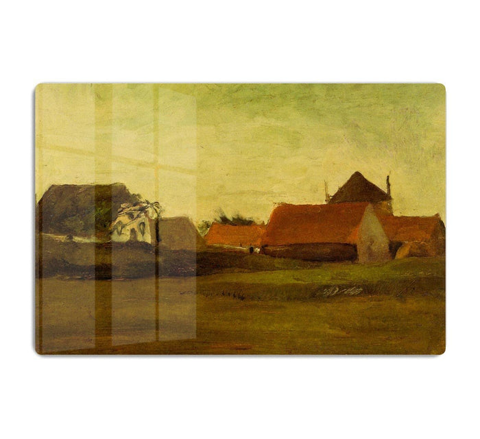 Farmhouses in Loosduinen near The Hague at Twilight by Van Gogh HD Metal Print