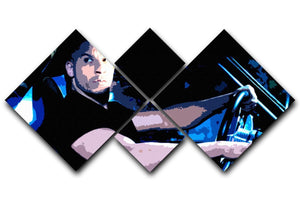 Fast And Furious Dom 4 Square Multi Panel Canvas  - Canvas Art Rocks - 1