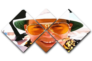 Fear and Loathing in Las Vegas Close Up 4 Square Multi Panel Canvas  - Canvas Art Rocks - 1