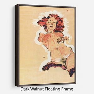 Female Act by Egon Schiele Floating Frame Canvas - Canvas Art Rocks - 5