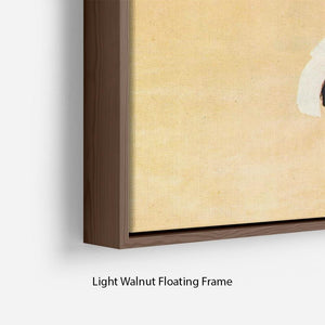 Female Act by Egon Schiele Floating Frame Canvas - Canvas Art Rocks - 8