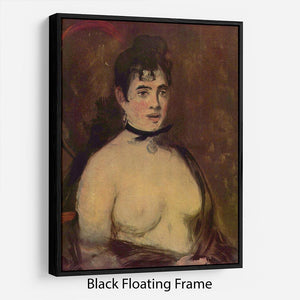 Female act by Manet Floating Frame Canvas