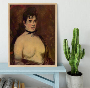 Female act by Manet Framed Print - Canvas Art Rocks - 4
