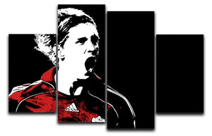 Fernando Torres 4 Split Panel Canvas  - Canvas Art Rocks - 1