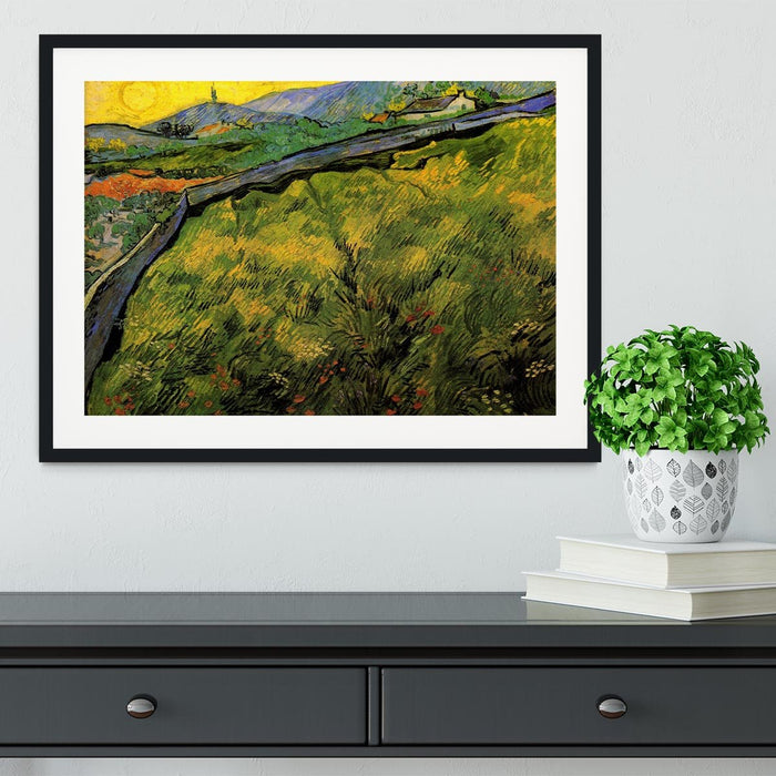 Field of Spring Wheat at Sunrise by Van Gogh Framed Print