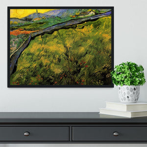 Field of Spring Wheat at Sunrise by Van Gogh Framed Print - Canvas Art Rocks - 2