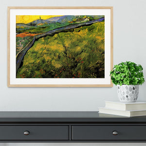 Field of Spring Wheat at Sunrise by Van Gogh Framed Print - Canvas Art Rocks - 3