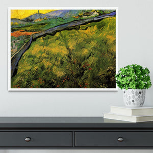 Field of Spring Wheat at Sunrise by Van Gogh Framed Print - Canvas Art Rocks -6