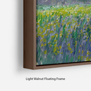 Field of Yellow Irises by Monet Floating Frame Canvas