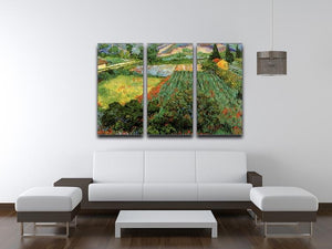 Field with Poppies by Van Gogh 3 Split Panel Canvas Print - Canvas Art Rocks - 4