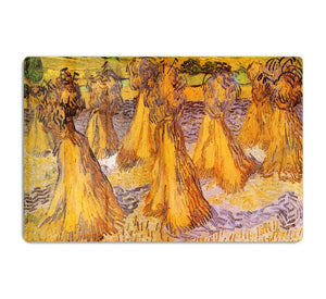 Field with Stacks of Wheat by Van Gogh HD Metal Print